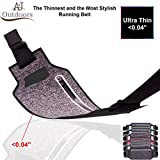 Ultra-Thin Water Resistant Running Belt / Fannie Pack for Women and Men, Expandable Phone Belt to Hold Cell Phones, Cards, and Money. Ideal Waist Bag Waist Pack for Travel, Sports and Yoga (black)