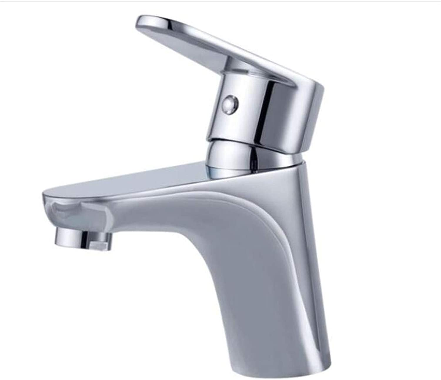 Bathroom Sink Basin Lever Mixer Tap Face Basin Faucet Copper Single Hole Single Hot and Cold Table Basin Faucet