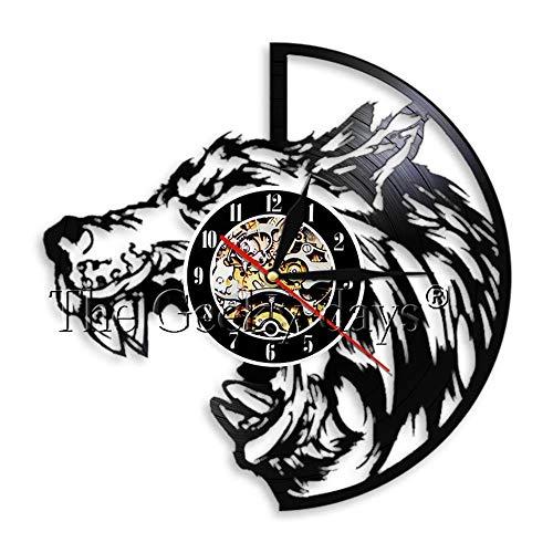 Wolf wall art reloj de vinilo wolf portraitwood mesa lámpara de mesa lámparas de mesa de noche lámpara de mesa de batería