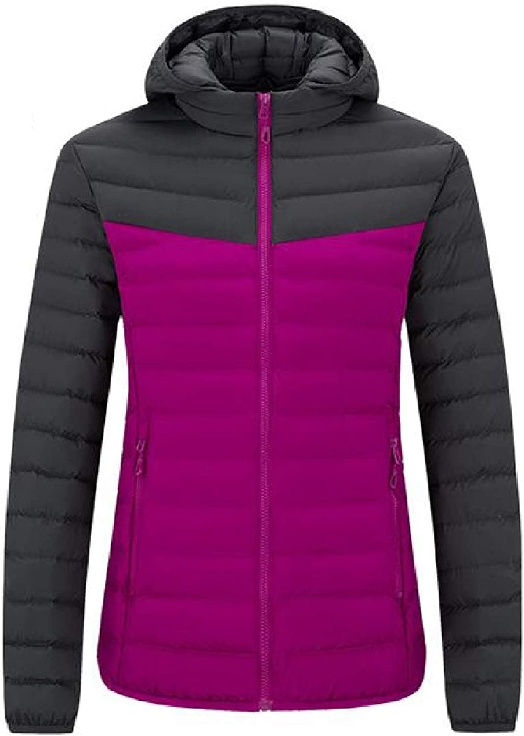 Mfasica Womens Thick Hooded Athletic Keep Warm Outwear color Conjoin Parka Jacket
