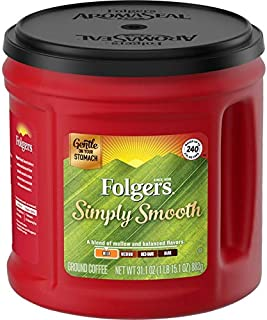 Folgers Simply Smooth Mild Roast Ground Coffee, 31.1 Ounces