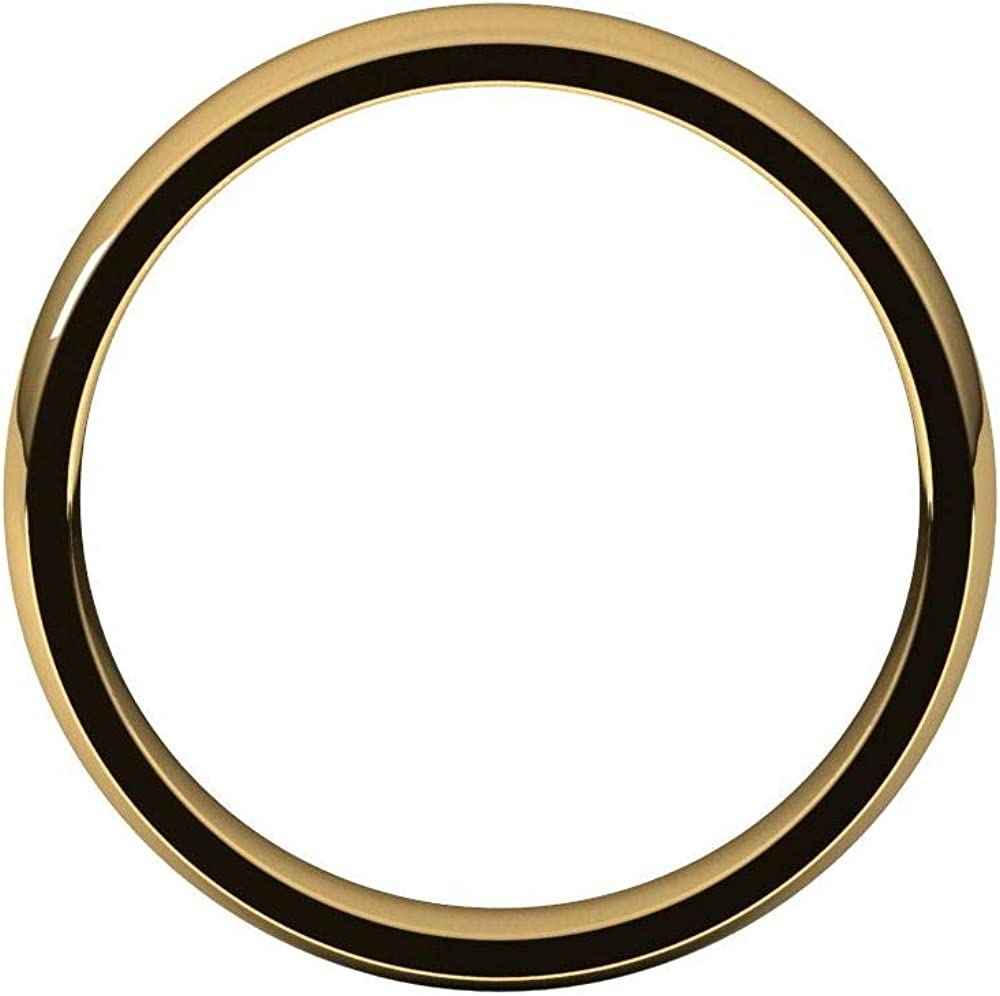 Solid 18k Yellow Gold 4mm Comfort Fit Wedding Band Ring Classic Plain Traditional - Size 5