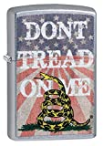 Zippo Don't Tread on Me American Flag Street Chrome Pocket Lighter