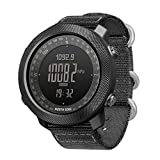 WJ Men's Digital Watch, Smart Watch Military Tactical Altitude Measurement Air Pressure Month Display <span class='highlight'>World</span> Time Nylon Strap Electronic Gift,A