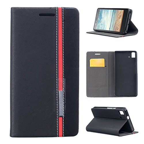 Asnlove BQ Aquaris E5 4G LTE / E5s Funda Libro de Cuero con Tapa, Flip Case Libro de Lona Impresión Carcasa Interna Suave para BQ Aquaris E5 4G LTE / E5s Diseño de Color de Contraste
