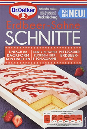 Dr. Oetker Erdbeer-Sahne Schnitte, 8er Pack (8 x 236 g)