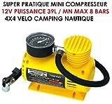Puissant ET Compact! COMPRESSEUR 12V 39L/MN BRANCHEMENT Allume Cigare...