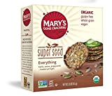 Mary's Gone Crackers Super Seed Crackers, Organic Plant Based Protein, Gluten Free, Everything, 5.5...