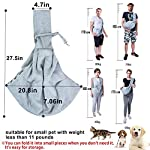 GHIFANT Dog and Cat Sling Carrier Little Pet Carrier Shoulder Crossbody Pet Slings for Outdoor Traveling Subway (Large Space) 11