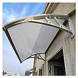 Vordach Für Haustür, Überdachung Haustür Aus Aluminium Und Polycarbonat Gartenhaus Mit Vordach (Color : A, Size : 100x270cm)