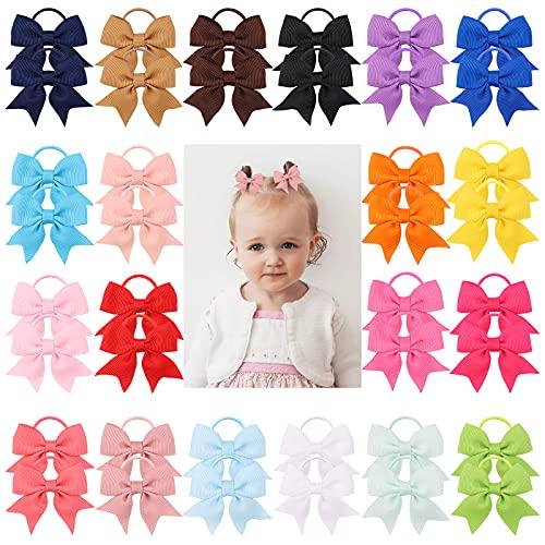 40 piezas bebé niñas lazos para el cabello lazo de cinta de grosgrain soporte para cola de caballo accesorios para el cabello para niños pequeños