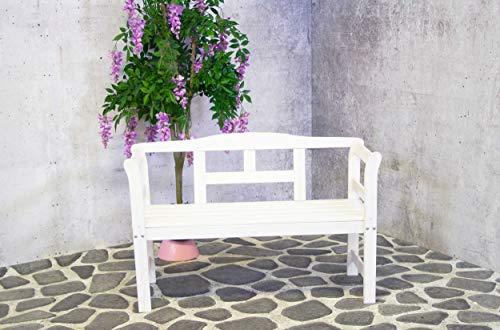 Sens-Line Gartenbank mit Rückenlehne Walt – Weiß