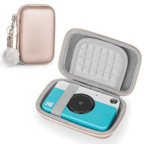 Estuche para KODAK Printomatic / Mini 2 / Smile & Polaroid Snap / Snap Touch, funda protectora de bolsa dura de EVA (Oro rosa)