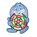 FITYLE Tablero de Dardos de Bola Adhesiva de Objetivo de Seguridad con Gancho Creativo de Clase Familiar Deportes Halloween Navidad Juego Regalos - Conejo
