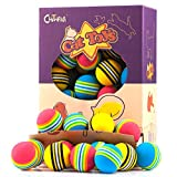 Chiwava 45 Pack 1.7'' Foam Cat Toys Ball Rainbow Color Balls Kitten Activity Chase Quiet Play Mix Color