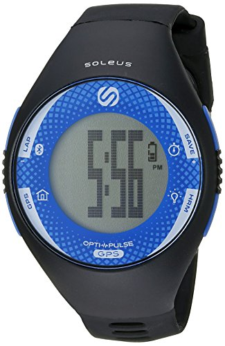 Soleus GPS Pulse Watch Heart Rate Monitor-Black/Blue SGO046