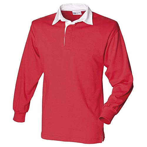 60d5c1d0bb4 Front Row Mens Long Sleeve Classic Cotton Rugby Shirt
