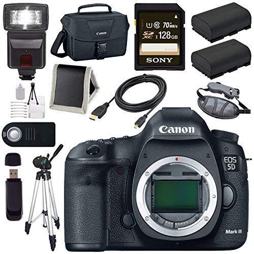 Canon EOD 5D III Digital Camera + LPE-6 Lithium Ion Battery + Canon 100ES EOS shoulder bag Bundle 3