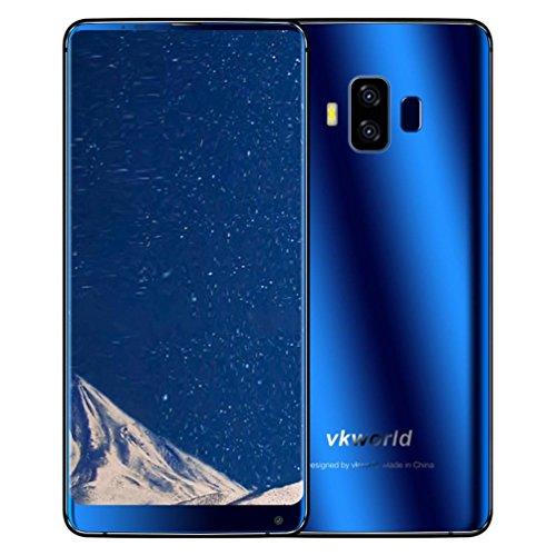 Vkworld S8 Smartphone Intelligent Rawdah Vkworld S8 5,99 Pouces 18: 9 Plein écran 4G-LTE Empreintes Digitales Smartphone 4 + 64 Go (Bleu)