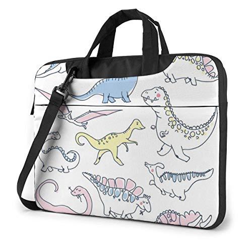 Los Dinosaurios Lindos Imprimieron el Bolso de Hombro del Ordenador portátil, maletín del Bolso de Mensajero del Negocio del Bolso de la Caja del Ordenador portátil