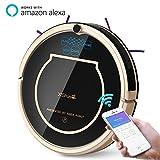 Xshuai T370 - Staubsaugerroboter mit Siri und Amazon Alexa Sprachsteuerung, Wifi, Zeitplan Reinigen,...