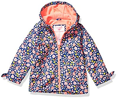 Carter's Girls' Toddler Midweight Fleece-Lined Jacket, Floral On Blue, 2T