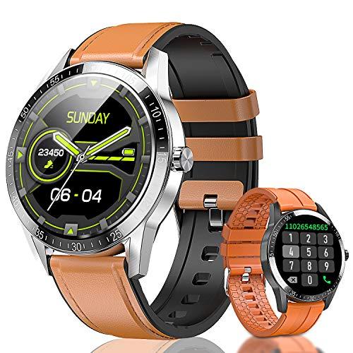 "Smart Watch, 1.3"" Touch Screen Fitness Tracker Heart Rate Blood Pressure Monitor IP68 Waterproof Bluetooth Smartwatch Men Women Kids Sports Activity Tracker Smart Bracelet for Android iOS Phones"