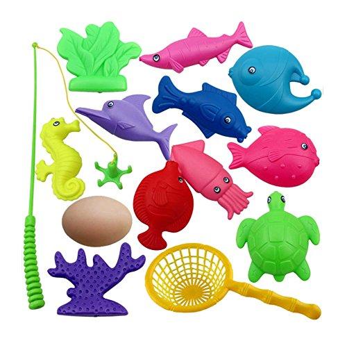 28 Pièces jouets de pêche pour les enfants/beaux joujoux de poissons, NO.12