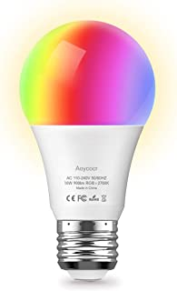 Smart WiFi Light Bulb - Aoycocr 10W A21 E26 Soft White (2700K) RGB - 900 Lumens (85W Equivalent) - Compatible with Amazon Alexa and Google Assistant, No Hub Required (1 Pack)