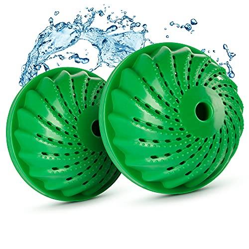Waschklar® Waschball 2er Set inkl. Austrittschutz | Öko Waschball für saubere & reine Wäsche | nachhaltige & umweltfreundliche Waschkugel | 2 Waschbälle für Waschmaschine