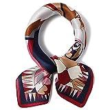BTTNW Bufandas Cuello Vintage Cuadrado Bufanda pequeña Satén Seda Corbata Sombreros Pañuelo for la Cabeza Moda Femenina Suave (12 Colores) Bufandas y chales (Color : 11, Size : 53 * 53cm)