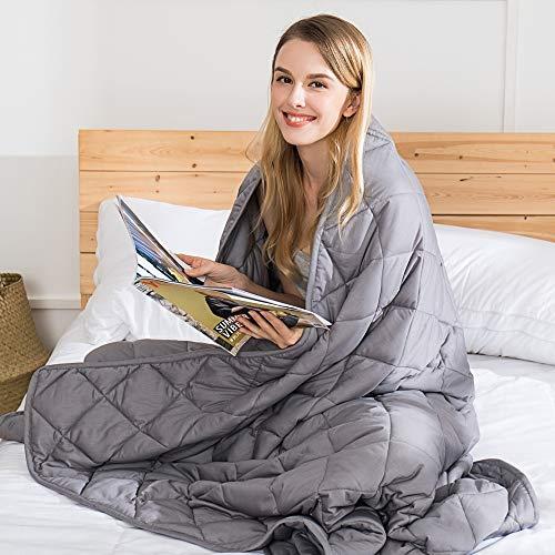 jaymag Therapiedecke Gewichtsdecke für Erwachsene 9kg Beschwerte Decke Anti Stress Schwere Decke für Angst und Schlafstörungen, 152x203cm 20lb 100% Baumwolle