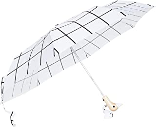 Shopbop @Home Original Duckhead Compact Umbrella, White Grid, One Size
