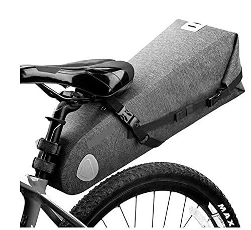 Bolsa Para SillíN De Bicicleta Bolsa de bicicleta trasera posterior de la cola plegable de 20L de 20L Capacidad Mtb Bolsa de montar a prueba de bicicletas de la mochila de la paleta de troncal Bolsa D
