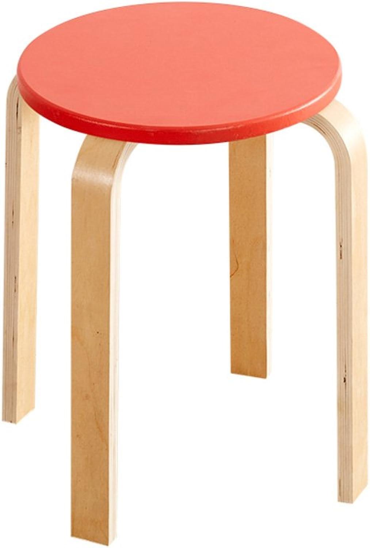 Creative Modern Solid Wood Stool,Linen Leather Multicolor Simple Minimalist Living Room Dining Room Home Stool-C