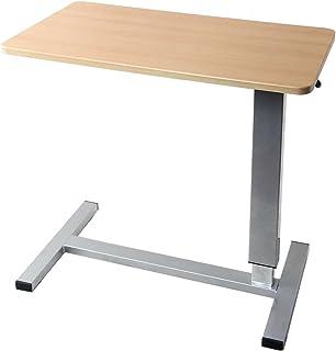 スポンサー広告 - タンスのゲン サイドテーブル 昇降式 幅80cm キャスター付き 高さ調節 介護用 ベッドテーブル ナチュラル 41900005 (53216)