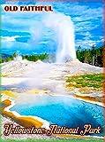 MAGNET Yellowstone Park Old Faithful Wyoming United States Travel Advertisement Magnet