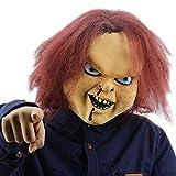 Máscara de látex de Chucky de la marca 8888mall...