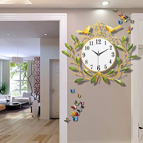 DKEE Arte Creativo Diseño De Aves Reloj De Pared Reloj De Pared Sala De Estar Reloj Silencioso Personalidad Casa Sencilla Moda Decoración De Pared Reloj