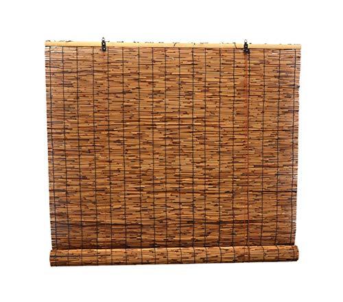 Cortina de caña natural tejida a mano, persiana enrollable de bambú con elevador, parasol de cortina de partición, filtro / UV / vintage / impermeable, se puede person(Size:180cm*300cm(70.8*118.1in))