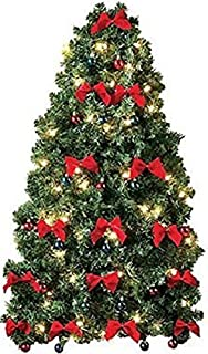CE-AS Pre-Decorated Wall Hanging Christmas Tree w/Red Bows & Mini Ornaments