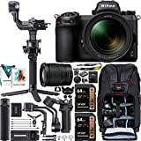 Nikon Z6II Mirrorless Full Frame Camera with 24-70mm F4 Lens Kit 1663 FX-Format 4K UHD Video Filmmaker's Kit with DJI RSC 2 Gimbal 3-Axis Handheld Stabilizer Bundle + Deco Photo Backpack + Software