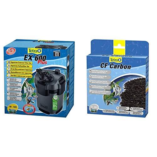 Tetra Aquarium Außenfilter EX Plus - leistungsstarker Filter für Aquarien, schafft kristallklares fischgerechtes Wasser & CF Carbon Kohlefiltermedium - Filtermaterial EX Außenfilter