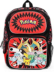 top 10 cheap pokemon backpacks Pokemon and friends 16 inch backpack school bag, red