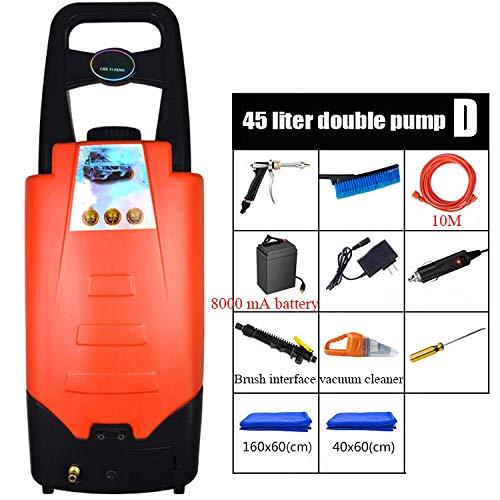Clyy Auto-sproeier, hogedrukreiniger, grote capaciteit, watertank van 45 liter, 1200 W en verstelbaar, 3-in-1 sproeier, voor huis, tuin en voertuigen, C dljyy D