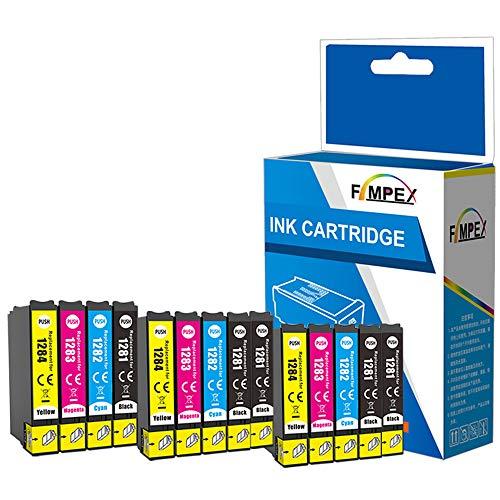 Fimpex Compatibile Inchiostro Cartuccia Sostituzione Per Epson Stylus Office BX305F BX305FW Plus Stylus S22 SX125 SX130 SX230 SX235W SX420W SX425W SX430W SX435W SX438W SX440W T1285 (B/C/M/Y, 14-Pack)