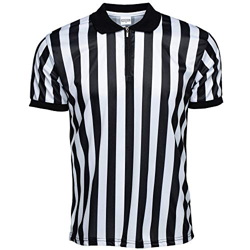 Murray Sporting Goods Men's Official Pro-Style Collared Referee Shirt, Officiating Jersey for Basketball, Football, & Volleyball (Large)
