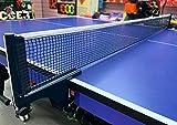 IPENNY - Red para Tenis de Mesa, de Polietileno, sin Soporte, Profesional, Borde Blanco, 175 x 14 cm, Color Negro