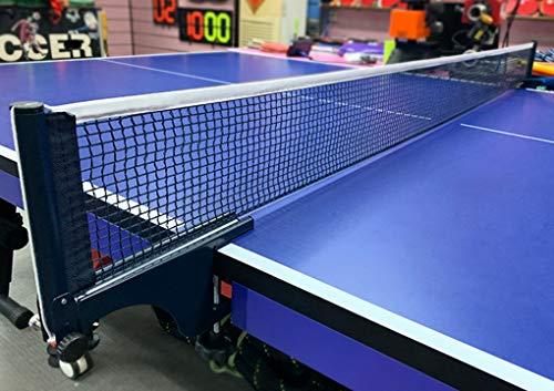 IPENNY Tischtennisnetze PE Tisch Tennis Netz Ping Pong Net TT-Netz Einzelnetz Ohne Halterung Professionell Tischtennisnetze Weißer Rand 175cm * 14cm Schwarz