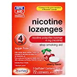 Rite Aid Cherry Nicotine Lozenges, 4mg - 72 Lozenges | Cherry Flavor | Sugar Free Quit Smoking Products | Stop Smoking Aids That Work | Quit Smoking Aid | Alternative to Nicotine Patches